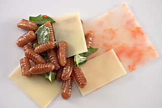 BrownButterCavatelliArugulaShrimpEmmenthaler