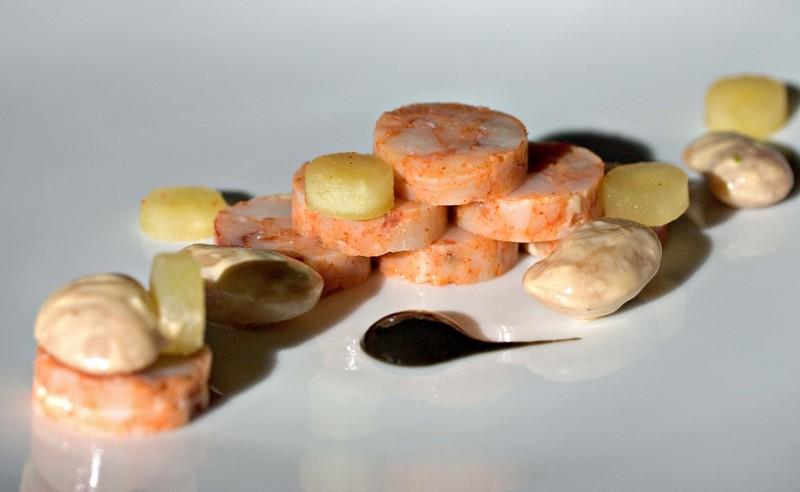 Shrimpchorizoapplebutterbeanblackfe