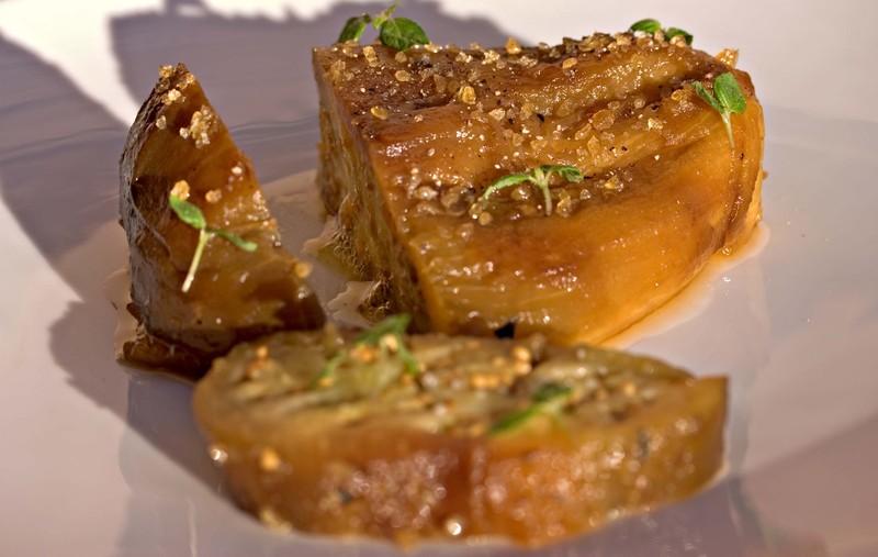 Eggplantlitchishisogingerslice