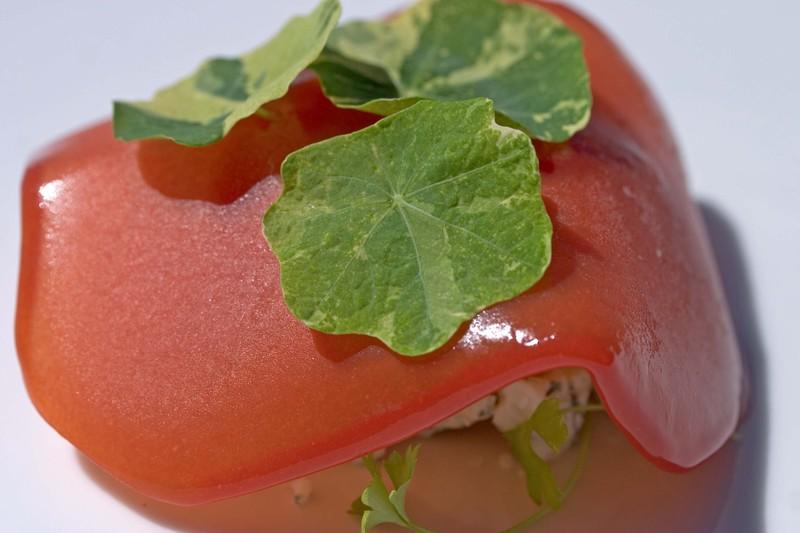 Tomatosmokedtomatonasturtiumoregonzola
